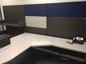 Office desk with filling wall unit in as new conditions Lane Cove West Lane Cove Area Preview