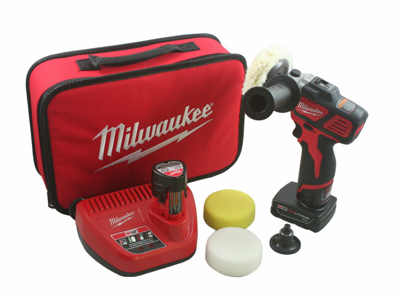 Milwaukee 2438-22X M12 Variable Speed Polisher Sander with Accessory Kit