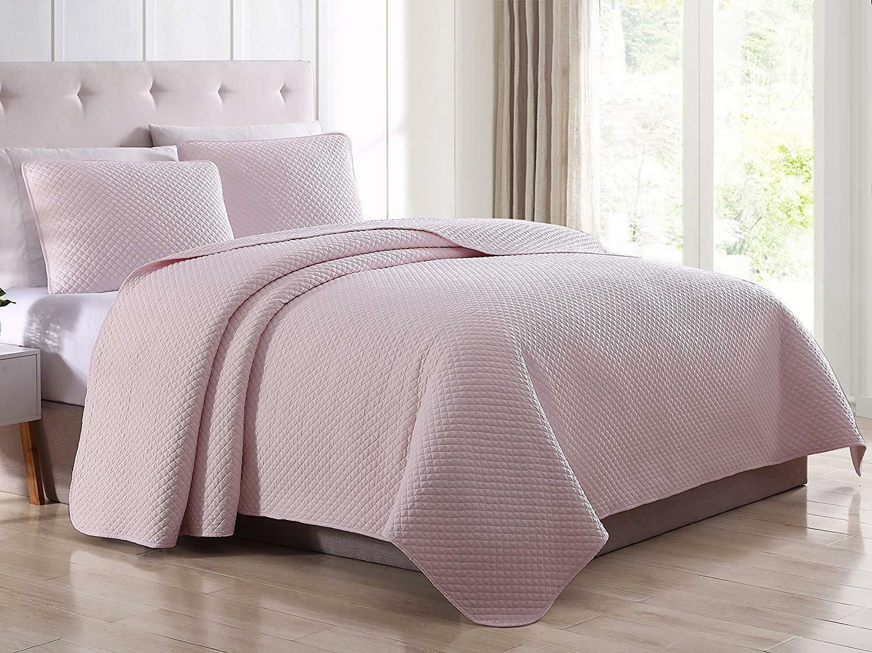 SuperBeddings PreWash Diamond Shape Solid Color Quilt Bedspr