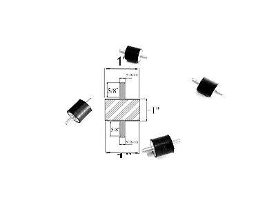 4 Rubber Vibration Isolator Mounts 1 Dia X 1 Thk 516-18 X 58 Long Studs