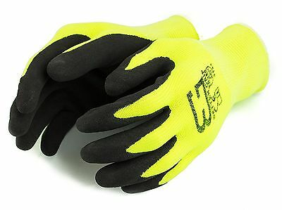 12 pairs Better Grip Ultra Thin Sandy Latex Hi-Vis Lime Nylon Latex