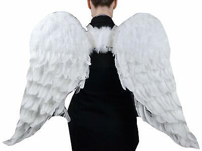 Party Costume Themes For Adults (Angel Wings Adult Large Costume Men White For Women Halloween Theme Party)