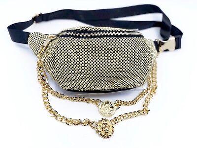 Gold Sparkle Belt Bag / Fanny Pack or Travel Crossbody