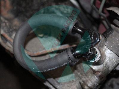 (92-95 Honda Civic EG Power Steering Delete Line Kit Black)