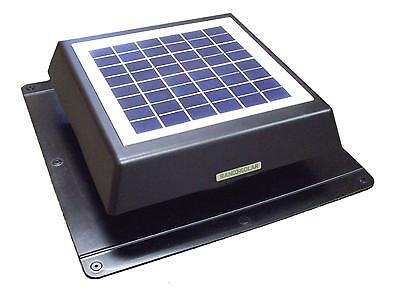 Rand 10 W Solar Battery Powered Attic Fan- Roof Top-Runs at End of day!!- 10 Watt