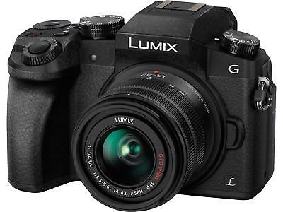Panasonic LUMIX DMC-G7KK DSLM Mirrorless 4K Camera, 14-42 mm Lens Kit (Black)