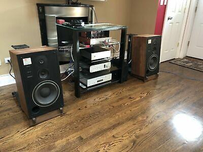 Custom Made Walnut Speaker Stands for JBL L50's Custom Made Walnut