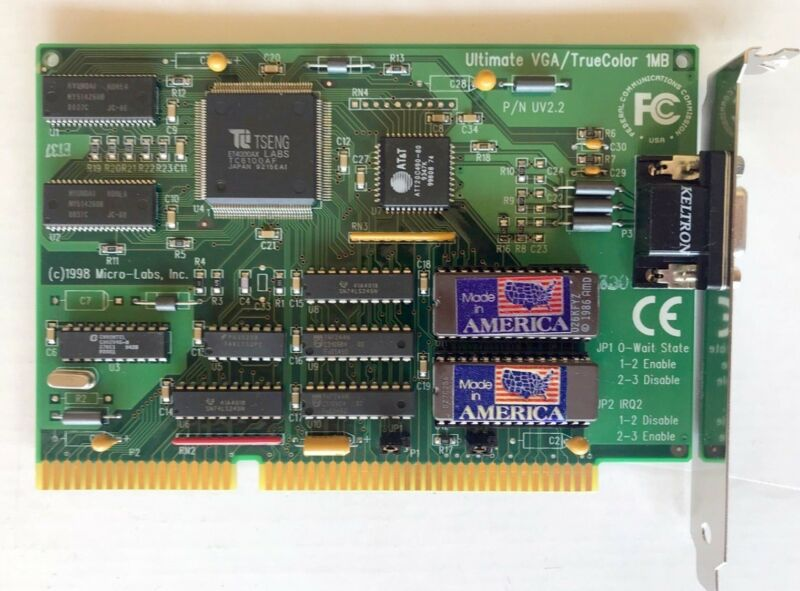 NEW!! Tseng Labs ET4000AX  ISA Video Graphics Card 1MB 16bit, Latest design!!