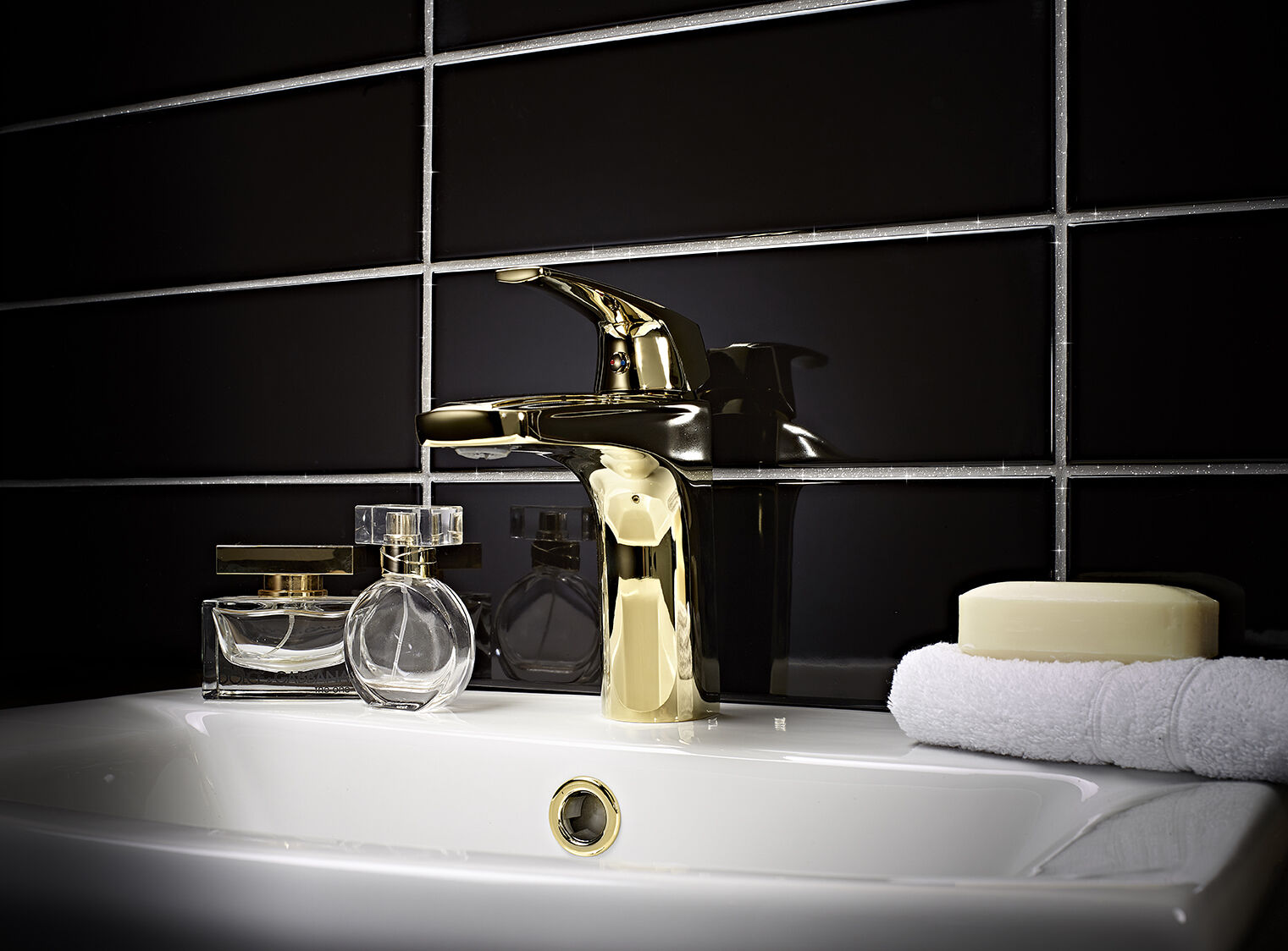 Additive Wall Floor Glass Mosaic Bathroom 2x100g v1rtus Gold Glitter Grout