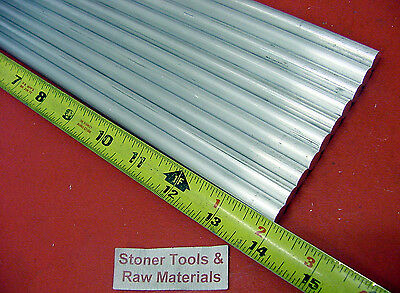 10 Pieces 38 Aluminum 6061 Round Rod 14 Long T6511 .375 Solid Lathe Bar Stock