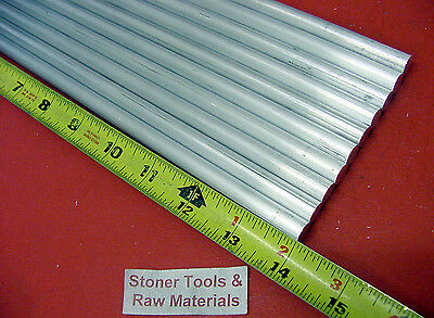 10 Pieces 58 Aluminum 6061 Round Rod 14 Long T6511 .625 Solid Lathe Bar Stock