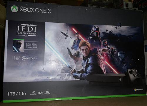 Brand New Microsoft Xbox One X 1TB Star Wars Jedi: Fallen Or