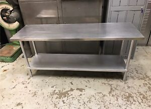 """Commercial Stainless Steel Table 72"""" x 24"""""""