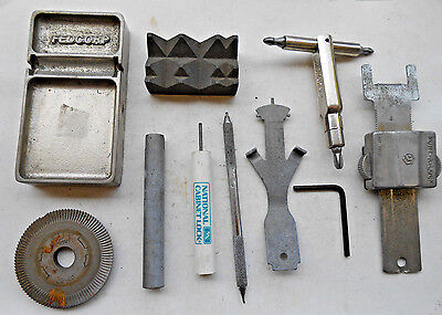 Lot of  Locksmith Hand Tools,Pin tray,Parts...     Locksmith