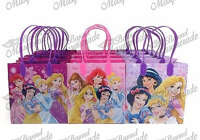Disney Princesses Party Favor Supplies Goody Loot Gift Bags [12ct] - Disney Princesses Party