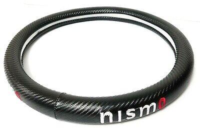 Brand New NISMO Carbon Fiber Steering Wheel Cover Carbon Fiber Decal 14'' Inches Carbon Fiber Steering Wheel Cover