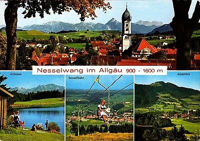 Nesselwang im Allgäu , Ansichtskarte 1970 gelaufen