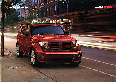 Dodge Nitro 2007 UK Market Sales Brochure SE SXT 3.7 V6 2.8 CRD