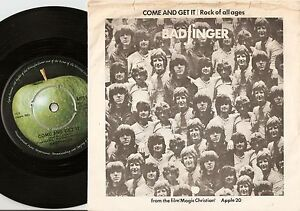 BADFINGER-COME-AND-GET-IT-ROCK-OF-ALL-AGES-DANISH-45-PS-1969-THE-BEATLES-APPLE