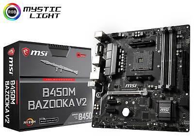 MSI B450M BAZOOKA V2 Socket AM4 AMD B450 SATAIII USB3.0 Micro-ATX Motherboard