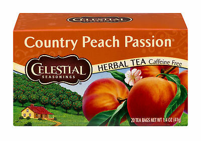 Celestial Seasonings Country Peach Passion Herbal Tea Bags - 20 CT (Pack of 3)