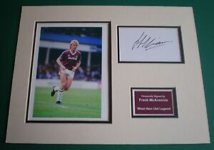 Genuine-Frank-McAvennie-Hand-Signed-Autograph-Photo-Mount-West-Ham-Legend