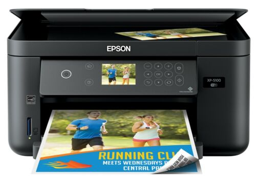 Epson Expression Home XP-5100 Wireless All-In-One Printer - Black - New