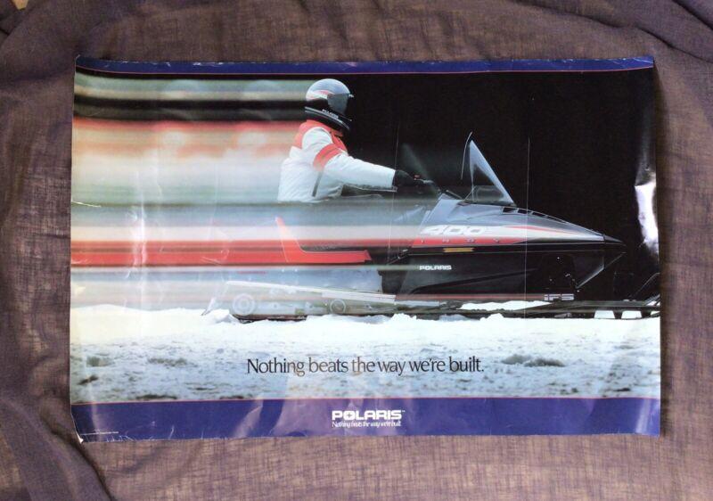 vintage polaris snowmobile poster