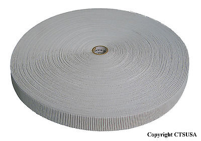 Non-Roll Ribbed Elastic White 3/4