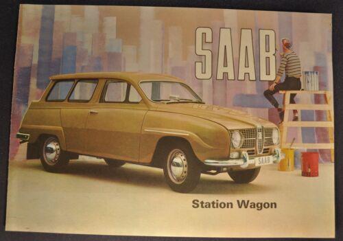 1965 Saab Station Wagon Catalog Sales Brochure Excellent Original 65
