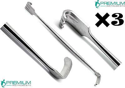 3 Pcs Surgical 6.25 Retractor Senn Muller 206mm Blunt 79mm Veterinary Tools