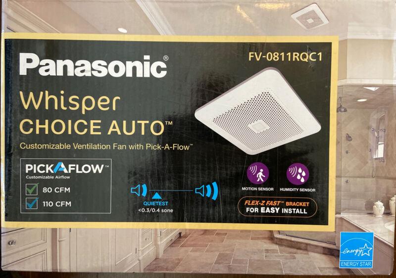 PANASONIC 80/110 CFM Ceiling Bathroom Exhaust Fan Motion/Humidity FV-0811RQC1