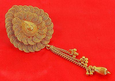 HP-75 Indian Bollywood Gold Tone Jooda Hair Pin Wedding Women Ethnic Jewelry