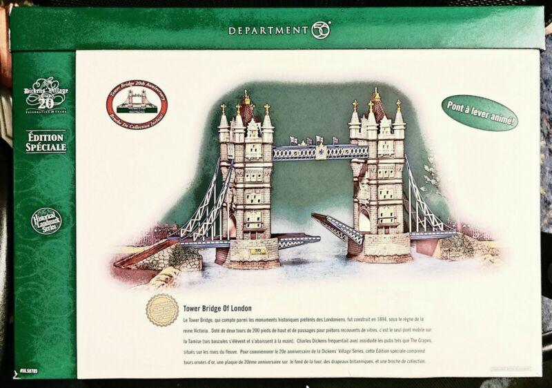 Department 56 Dickens Village Tower Bridge Of London ~ Landmark Series ~ NIB