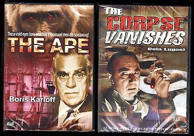 The Corpse Vanishes & The Ape (DVD) NEW; Bela Lugosi, Boris Karloff, Halloween](Boris Karloff Halloween)