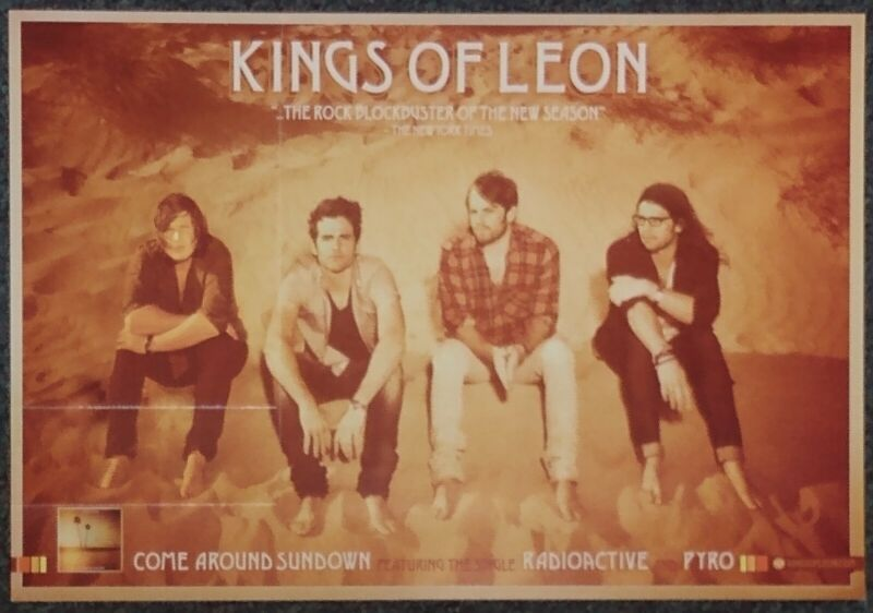 Kings of Leon Come Around Sundown 2010 Double-sided PROMO POSTER