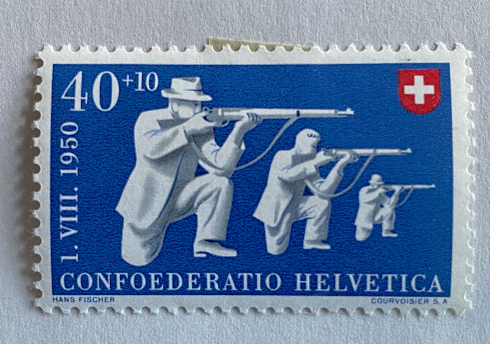 1950 Switzerland Stamps Sc. B201-B205 Confederation Helvetica - Set Of 5 Stamps - $5.00