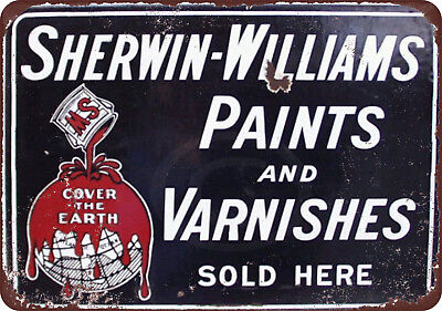 Sherwin Williams Paints   Varnishes Vintage Look Reproduction Sign 8 X 12