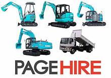 - PAGE HIRE - Excavators and Trucks for DRY HIRE Spreyton Devonport Area Preview