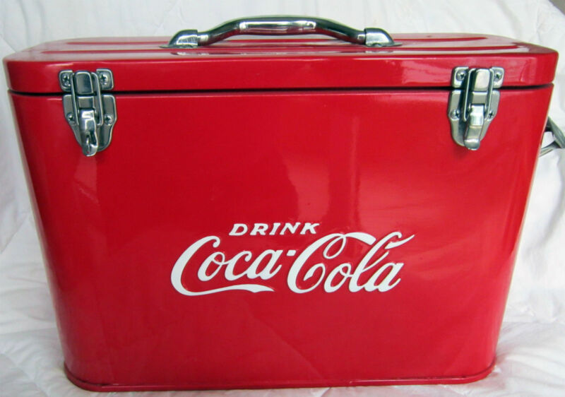 Coca-Cola Airplane Cooler Chest