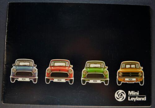 1978-1979 Leland Mini Brochure 1100 850 1000 Clubman Dutch Text Excellent Orig