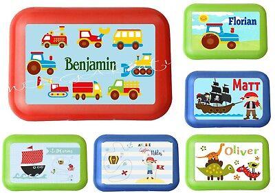 Lunchbox Brotdose für Kinder mit Name Junge viele Motive zur Auswahl