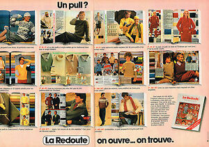 publicite advertising 104 1981 la redoute catalogue 2pages les pulls. Black Bedroom Furniture Sets. Home Design Ideas