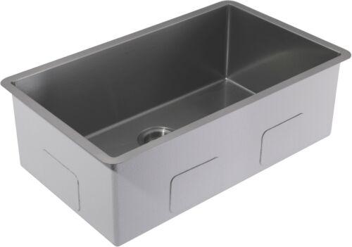 """AguaStella Stainless Steel Gunmetal Black Kitchen Sink 30"""" Under mount OPEN BOX"""