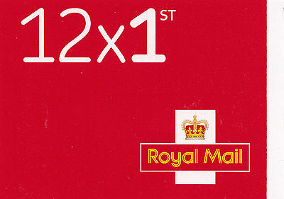 GB SCARLET 2017 M17L MTIL 12 x 1st CLASS INVERTED SBP2i BOOKLET MF9a