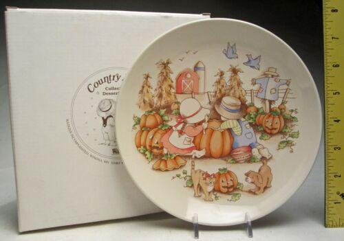 Watkins Country Kids Sharing is Fun Collector Plate Fall Halloween Autumn & Box