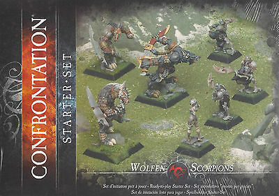 Confrontation/Rackham Miniature Starter Set Wolfen & Box RK00002 NEU !