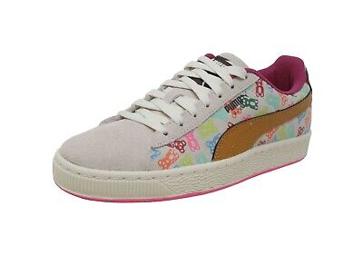 PUMA Suede Jr Whisper White Beige Brown Gummy Bears Kid Sneakers Youth Shoes - White Gummy