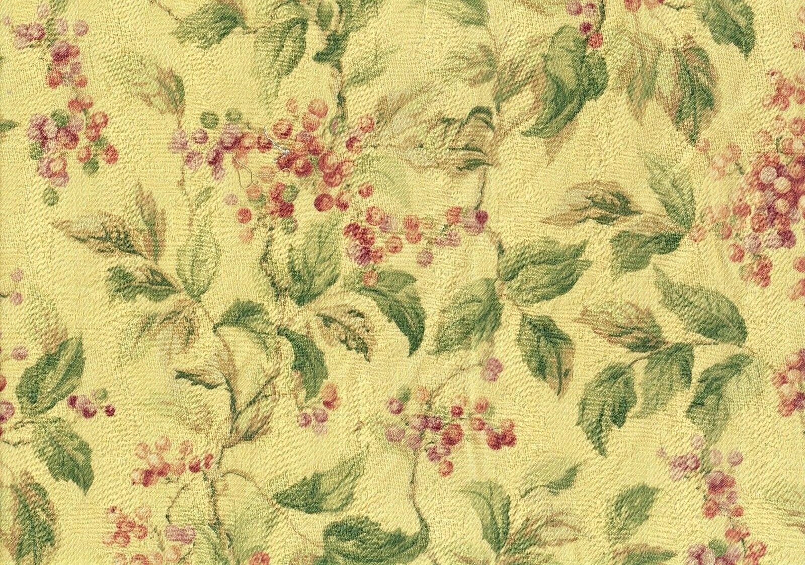 fabric bloomsbury floral drapery upholstery yellow rose