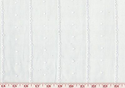 Organdy Embroidered Eyelet Sheer Drapery Fabric Roth Fabric Dot and Stripe -